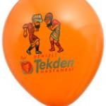 Üç renk logo baskılı balon