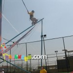 Şişme Oyun Parkı - 4 lü Salto Trambolin