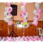 Resim Baskılı Uçan Balon Demetleri