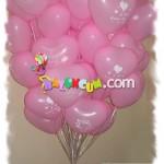 Uçan Balon - Pemebe Kalp Balondan