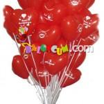 Kalp Uçan Balon Demeti