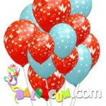 Çepeçevre Baskılı Uçan Balon Demeti